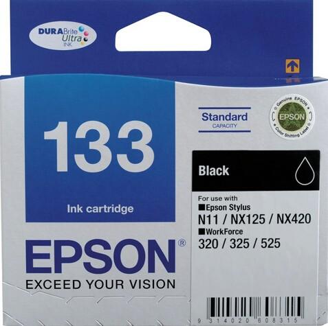 Image 1 of Epson T133192 Black Ink Cartridge N11, Nx125, Nx420, Workforce 320, 325, 525 C13T133192