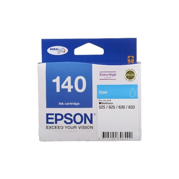Image 1 of Epson T140292 Extra High Capacity Cyan Ink, Workforce 60, 525, 625, 630, 633 C13T140292