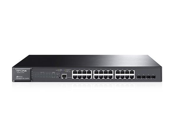 Image 1 of Tp-link Jetstream 24-port Gigabit Poe+ L2 Managed Switch 24 Gigabit Rj45 Ports Including 4 Combo T2600G-28MPS(TL-SG3424P)