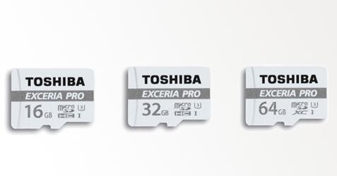 Toshiba EXCERIA PRO MICRO SD CARD - 32GB UHS 80/95MBs  RW, WITH ADAPTOR