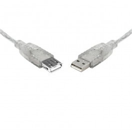 Image 1 of Teamforce Usb 2.0 Extension A-a M-f Transparent Metal Sheath Cable 25cm Uc-2000aae UC-2000AAE