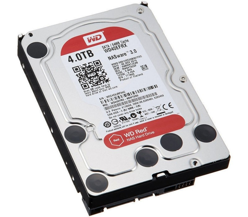 Image 1 of Western Digital WD Red 4TB NAS Hard Disk Drive 5400RPM SATA 6GB/s 64MB Cache 3.5 Inch WD40EFRX WD40EFRX