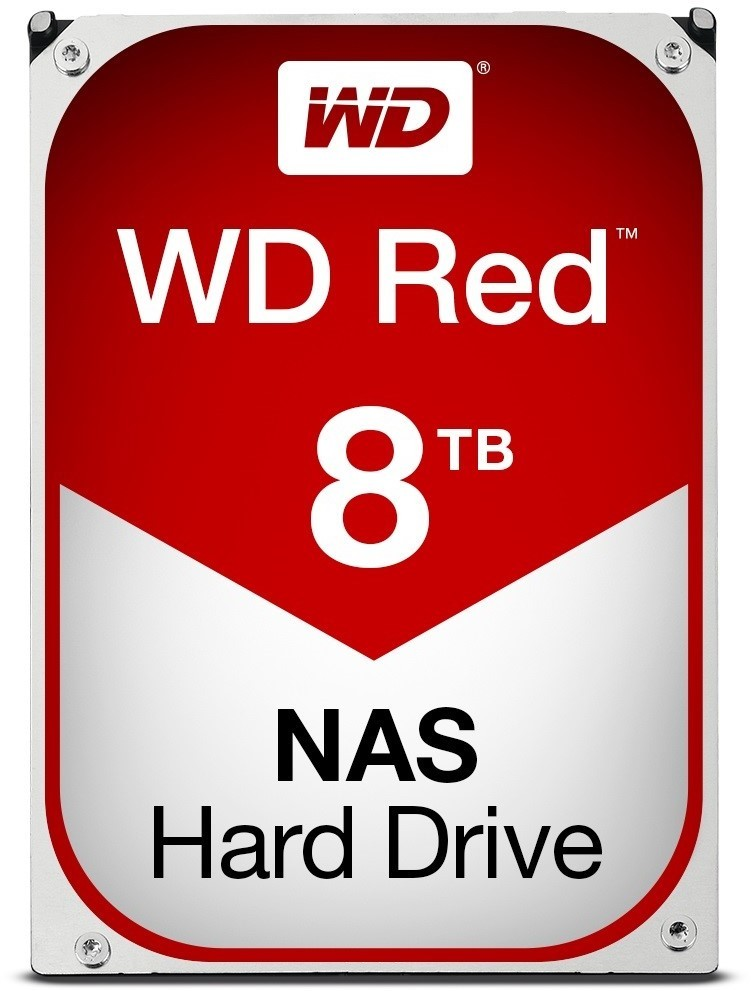 Image 1 of Western Digital Red Nas Hard Drive 8tb Sata Iii 6 Gb/s 5400-rpm .5in 256mb Cache 3 Years Wd80efax WD80EFAX