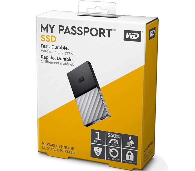 Image 1 of Western Digital WD 1TB My Passport SSD Portable USB Type-C 3.1 Black-Gray WDBKVX0010PSL-WESN WDBKVX0010PSL-WESN