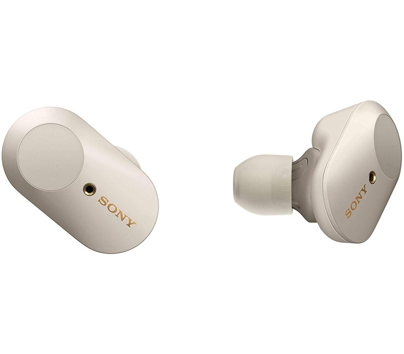 Image 1 of Sony WF-1000XM3 Wireless Noise Cancelling Headphones with Bluetooth, Dual Noise Sensor Technology, Platinum Silver WF-1000XM3S