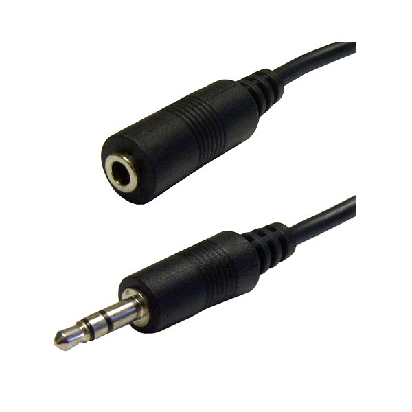 Image 1 of Wicked Wired 2m 3.5mm Male Stereo To 3.5mm Female Stereo Audio Cable WW-AV-35MMEXTMF2M WW-AV-35MMEXTMF2M