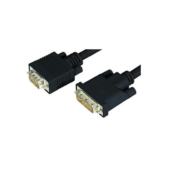 Image 1 of Wicked Wired 5m Dvi-a Male To Hd15 15pin Male Vga Video Adapter Cable Ww-av-dvia-vga5m WW-AV-DVIA-VGA5M