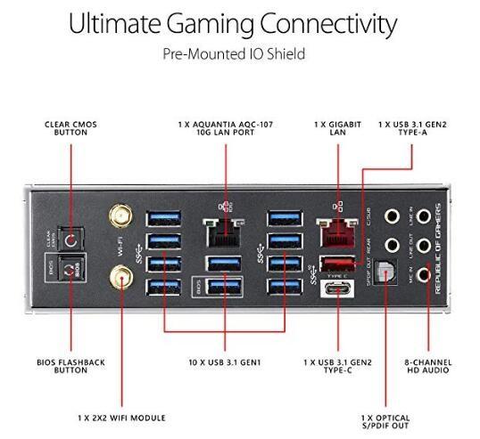 Asus Rog Rampage Vi Extreme Omega X299 Motherboard Lga2066 Wi-Fi Rog  Rampage Vi Extreme Om