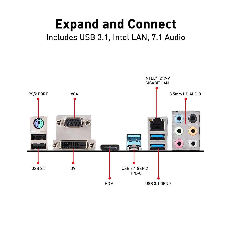Image 1 of Msi Intel Z390 Socket 1151 Atx Gaming Motherboard Turbo M.2 Extended Heatsink 4Xddr4 2Xpcie Z390-A PRO