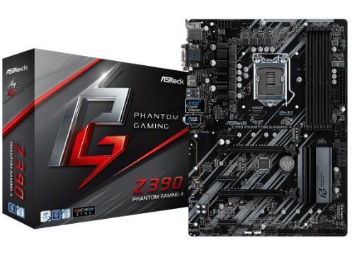 Image 1 of Asrock Z390 Phantom Gaming 4 Lga1151 Atx Mb Z390-phantom-g4 Z390-PHANTOM-G4