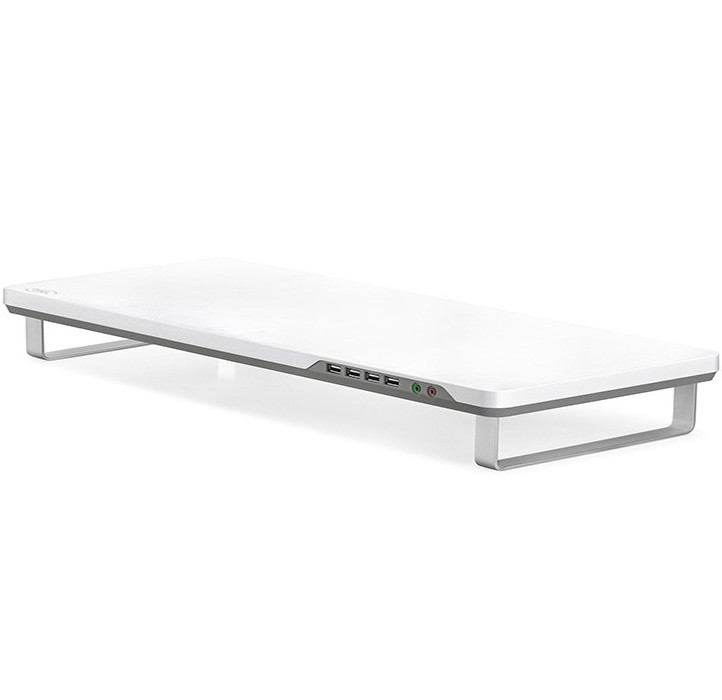 "Image 1 of Deepcool M-Desk F1 Monitor Stand Up To 27"" & 10Kg W/ Audio & 4x USB - Grey M-Desk F1 Grey M-DESK F1 GREY"