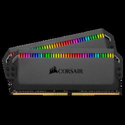 CORSAIR DOMINATOR PLATINUM RGB DDR4, 3600MHz 16GB 2x8GB DIMM, Unbuffered, 18-19-19-39, XMP 2.0, Black Heatspreader, RGB LED, 1.35V Cmt16Gx4M2C3600C18
