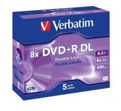 Verbatim Dvd+r Dl 5pk Jewel Case 43541