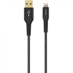 Verbatim Lightning Cable With Kevlar 120Cm Black (65857)