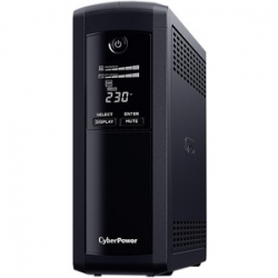 Cyberpower VALUE PRO 1600VA / 960W LINE INTERACTIVE UPS - 2 12V/9AH - 2 YRS ADV. REPLACEMENT WTY INCL. INTERNAL BATTERIES (VP1600ELCD)