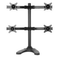 "Speed Quad Monitor Desk Stand Up To 27"" (Mnt-Speed-Curve/Q)"
