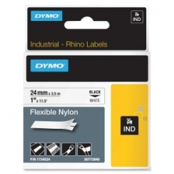 Dymo Rhino 24mm White Flexible Nylo 1734524
