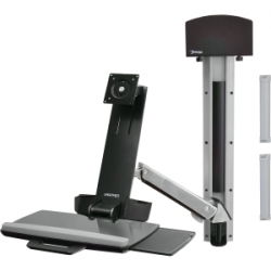 Ergotron Sv Sit Stand Combo Arm, No Worksurface, Polished 45-266-026