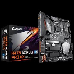 Gigabyte H470 AORUS Motherboard 4xDDR4,6xSATA,2xM.2, USB-C, USB3.2 Gen2, WIFI, ATX,3YR (Ga-H470-Aorus-Pro-Ax)