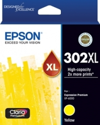 EPSON 302Xl Yellow Claria Prem Ink C13T01Y492