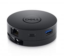 Dell USB-C Mobile Adapter DA300, Portable, 4K 60Hz, USB, HDMI, VGA, DP, GigaLAN, 492-BCJF