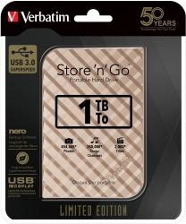 Verbatim 1Tb Gold Grid Portable Hdd Limited Edi 53232