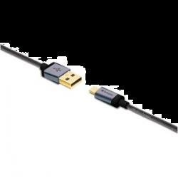 Verbatim Metallic Charge&sync Microusb Cable - Black 120cm 64705