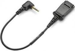 "Plantronics Cable, Qd To 2.5mm, 18"" Length, Right-angle Plug - Specralink, Avaya 65287-01"