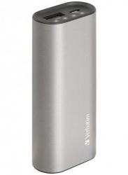 Verbatim Metallic Single Output 2.5a Power Pack 5200 Mah - Grey 65380