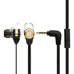 Verbatim In Ear Headphones Black/Gold 66120
