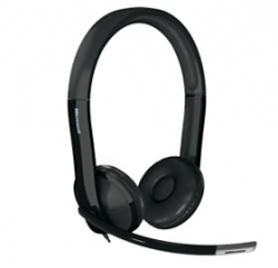 Microsoft Lifechat Lx-6000 Headset Lync Certified Usb Noisecancelling Mic Black 7xf-00003