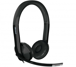 Microsoft LifeChat LX-6000 for Business USB Plug and Play, Noise-Cancelling Mic, In-Line Controls 7XF-00003