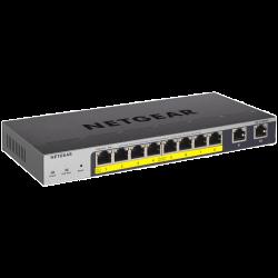 NETGEAR 8-port PoE+ Gigabit Smart Managed Pro Switch with Cloud Management & 2 x SFP ports (120W PoE budget extendable to 190W), ProSAFE Lifetime War GS110TPP-100AJS