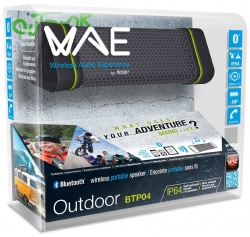 Hercules Outdoor Btp04 Bluetooth Portable Speaker, Water, Dust And Shock Resistant