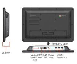 "Aopen Chromebase Mini-10"" Alio Touch Quad-core Cortex-a17 16gb Front Panel Water Resistant Need"