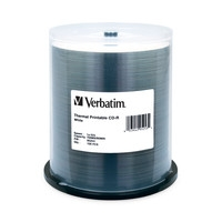 Verbatim Cd-r 80 Min Wht Therm 100 Pk 52x 95253