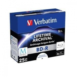 Verbatim M-disc Bdr 25gb 5pk Jc White Ij Printable 4x 43823