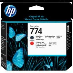 HP 774 Matte Black/Chromatic Red DesignJet Printhead (P2V97A)
