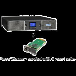 EATON 9PX 1500VA RACK/TOWER 10AMP INPUT + Warranty+ standard uplift 4 year: 9 seri + Gigabit Network Card (3553433 + 2681780 + 4334350)