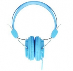 Laser Ao-headk-bl Headphones Stereo Kids Friendly Colourful Blue