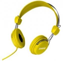 Laser Ao-headk-ye Headphones Stereo Kids Friendly Colourful Yellow