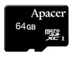 Apacer Micro Sdxc Uhs-i 64gb Class 10 - With Sd Card Adaptor