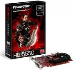 Powercolor Ax5550-512mk3-h Radeon Hd5550, 512mb, Gddr3, Pcie2.0, Dvi, Hdmi, Vga, Fan