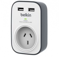 Belkin 1 Outlet With 2 Usb Ports (2.4a) Bsv103au