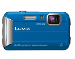 Panasonic Lumix Ft30 16.1mp Blue Tough Dmc-ft30gn-a