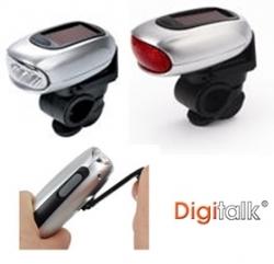 Digitalk Dynamo Solar Led Bicycle Lamps (front And Rear) Eledigei-ks5d5