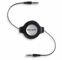 Belkin Iph/ Ipod/ Mp3 3.5mm/ 3.5mm Retract Cable F3x1980-4.5-blk