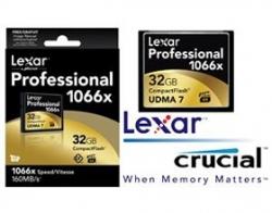 Lexar 32GB 1066x CF Card Upto 160MB/ s VPG-65 Standard FMLCFPRO1066X32