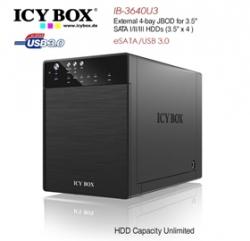 Icy Box Ib-3640su3 External 4-bay Jbod System For 3.5 Inch Sata Hdds Hddicy3640su3