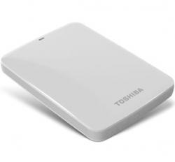 Toshiba 1tb Canvio Connect Usb3.0 Portable Hard Drive White For Pc And Mac